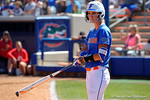 Florida Gators catcher Aubree Munro gets set to walk to the plate as the #1 ranked Florida Gators softball team defeats the Illinois State Redbords 11-1 at Katie Seashole Pressly Softball Stadium.  March 6th, 2016. Gator Country photo by David Bowie.