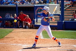 Florida Gators outfielder Chelsea Herndon at the plate as the #1 ranked Florida Gators softball team defeats the Illinois State Redbords 11-1 at Katie Seashole Pressly Softball Stadium.  March 6th, 2016. Gator Country photo by David Bowie.