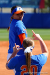 Florida Gators infielder Kelsey Stewart posing during player introductions as the #1 ranked Florida Gators softball team defeats the Illinois State Redbords 11-1 at Katie Seashole Pressly Softball Stadium.  March 6th, 2016. Gator Country photo by David Bowie.
