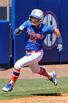 Florida Gators outfielder Kirsti Merritt rounds third on her way to home as the #1 ranked Florida Gators softball team defeats the Illinois State Redbords 11-1 at Katie Seashole Pressly Softball Stadium.  March 6th, 2016. Gator Country photo by David Bowie.