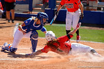 Florida Gators catcher Aubree Munro tags out Illinois State Redbirds outfielder RIley Hale at home as the #1 ranked Florida Gators softball team defeats the Illinois State Redbords 11-1 at Katie Seashole Pressly Softball Stadium.  March 6th, 2016. Gator Country photo by David Bowie.