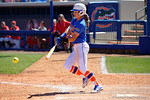 Florida Gators second baseman Nicole DeWitt swings at a pitch as the #1 ranked Florida Gators softball team defeats the Illinois State Redbords 11-1 at Katie Seashole Pressly Softball Stadium.  March 6th, 2016. Gator Country photo by David Bowie.