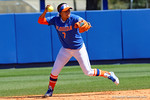Florida Gators infielder Kelsey Stewart fields a ground ball and throws to first for the out as the #1 ranked Florida Gators softball team defeats the Illinois State Redbords 11-1 at Katie Seashole Pressly Softball Stadium.  March 6th, 2016. Gator Country photo by David Bowie.