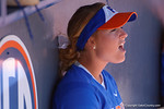 Florida Gators utility player Taylore Fuller urges on her teammates as the #1 ranked Florida Gators softball team defeats the Illinois State Redbords 11-1 at Katie Seashole Pressly Softball Stadium.  March 6th, 2016. Gator Country photo by David Bowie.