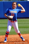 Florida Gators pitcher Delanie Gourley fields a ground ball as the #1 ranked Florida Gators softball team defeats the Illinois State Redbords 11-1 at Katie Seashole Pressly Softball Stadium.  March 6th, 2016. Gator Country photo by David Bowie.
