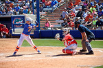 Florida Gators second baseman Nicole DeWitt at the plate as the #1 ranked Florida Gators softball team defeats the Illinois State Redbords 11-1 at Katie Seashole Pressly Softball Stadium.  March 6th, 2016. Gator Country photo by David Bowie.
