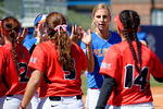 Florida Gators catcher Aubree Munro and the Gators shake hands with the Redbirds as the #1 ranked Florida Gators softball team defeats the Illinois State Redbords 11-1 at Katie Seashole Pressly Softball Stadium.  March 6th, 2016. Gator Country photo by David Bowie.