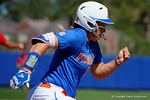 Florida Gators outfielder Amanda Lorenz sprints to first base as the #1 ranked Florida Gators softball team defeats the Illinois State Redbords 11-1 at Katie Seashole Pressly Softball Stadium.  March 6th, 2016. Gator Country photo by David Bowie.