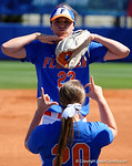 Florida Gators utility player Nicole DeWitt posing during player introductions as the #1 ranked Florida Gators softball team defeats the Illinois State Redbords 11-1 at Katie Seashole Pressly Softball Stadium.  March 6th, 2016. Gator Country photo by David Bowie.