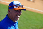 Florida Gators softball head coach Tim Walton is all smiles as the #1 ranked Florida Gators softball team defeats the Illinois State Redbords 11-1 at Katie Seashole Pressly Softball Stadium.  March 6th, 2016. Gator Country photo by David Bowie.