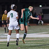 Wachusett's Isabelle Silo (9) battles Nashoba's Abby McNulty during the Div I Soccer Championship Game. Nashoba won on PKs. SENTINEL & ENTERPRISE / Jim Marabello