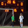 Nashoba Keeper Theresa Don stares down Wachusett's Sara James at the beginning of Penalty Kicks, which Nashoba won to become Div I Soccer Champions. SENTINEL & ENTERPRISE / Jim Marabello