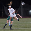Wachusett's Victoria Steffon (3) battles Nashoba's Grace Keith  during the Div I Soccer Championship Game. Nashoba won on PKs. SENTINEL & ENTERPRISE / Jim Marabello