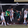 Wachusett and Nashoba players battle in front of the net after a Wachusett corner kick during the Div I Soccer Championship Game. Nashoba won on PKs. SENTINEL & ENTERPRISE / Jim Marabello