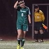Nashoba's Caity Curtis reacts after missing her PK against Wachusett  during the Div I Soccer Final. Nashoba prevailed in PKs. SENTINEL & ENTERPRISE / Jim Marabello