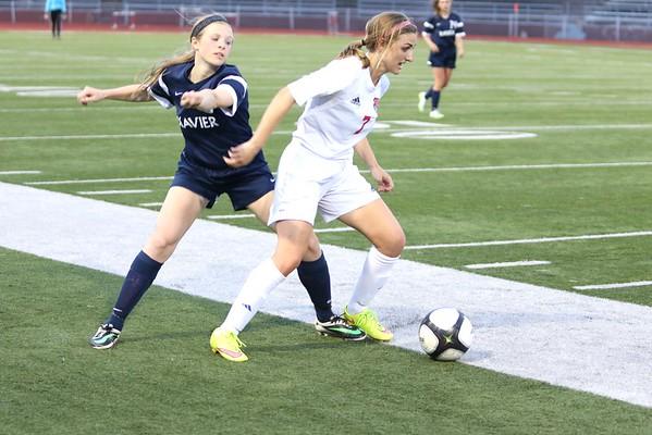 Washington vs. Xavier Girls' Soccer 4/26/16