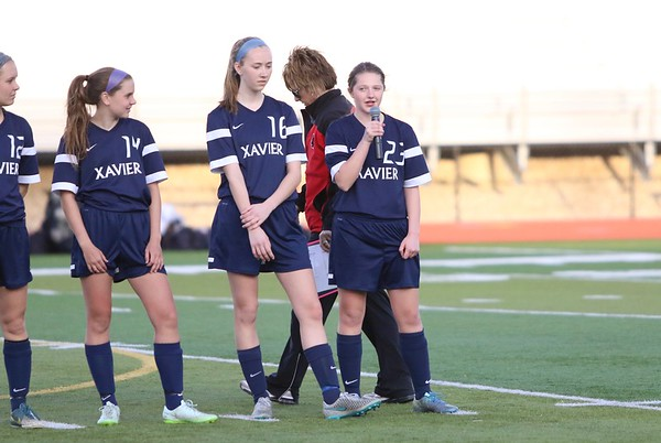 Xavier vs. Linn-Mar Girls Soccer 4/14/16