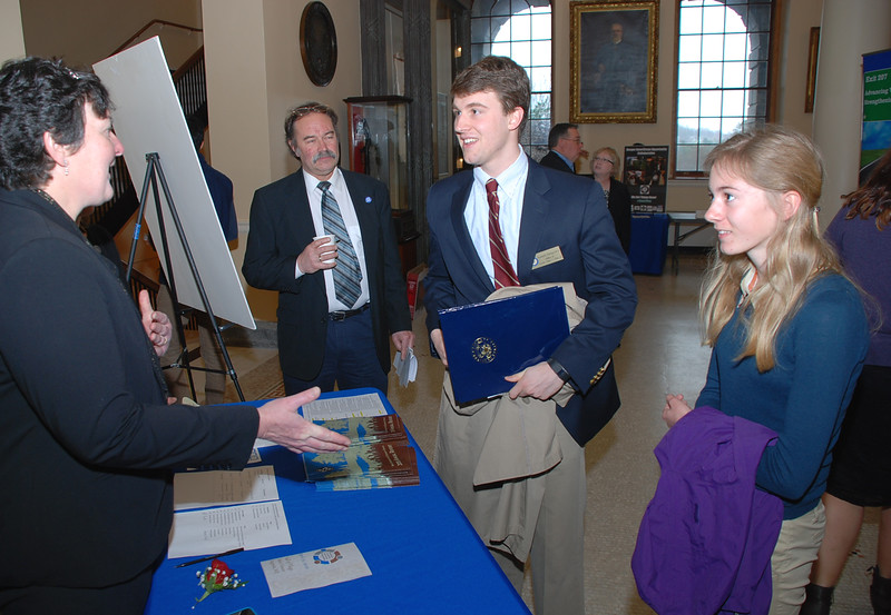 Maryalice Crofton, Ron Holmes (chair of the Commission) with Joeseph Shagoury (staff in Senator Angus King's Office) and Maddie Taylor