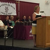 MARK ROBARGE - mrobarge@troyrecord.com Lansingburgh Central School District Superintendent Cynthia DeDominick addresses the Lansingburgh High School Class of 2016 during the school's 114th commencement Friday night.