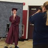 MARK ROBARGE - mrobarge@troyrecord.com Henry Harrison strikes a thoughtful pose for his graduation portrait during Lansingburgh High School's 114th commencement Friday night.