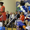 COURTESY VANDERHEYDEN HALL WNYT-TV news anchor Elaine Houston was the guest speaker as Vanderheyden Hall hosted graduation for seniors and a moving-up ceremony for eighth-graders Friday at the Richard A. Desrochers Educational Center on Vanderheyden's main campus in Wynantskill.