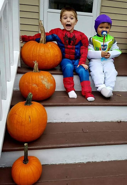Brian Rauseo - Age 4 as spiderman<br /> Adrian Rauseo - Age 2 as buzzlight year :)