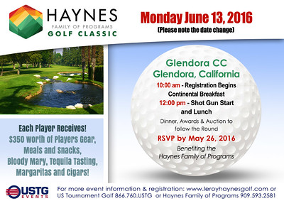 2016 Haynes Family of Programs Golf Classic