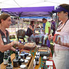 Laura Denyes of Wish We Had Acres sells handmade soap to Nicole Kloss of Novant Health.