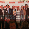 U.S. Department of Veterans Affairs Charlotte project members accept their Commercial Real Estate Award.