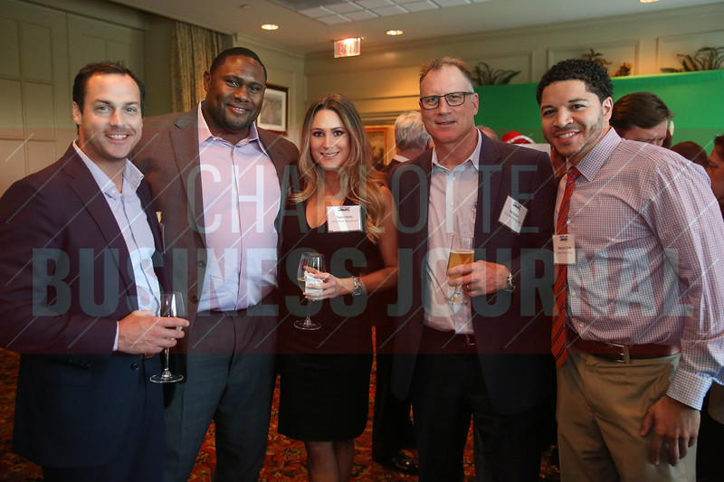 GCG Wealth Management team members pose for a photo at the Heavy HItters of Commercial Real Estate Awards.