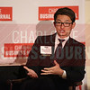 Christopher Chung, CEO of Economic Developpment Partnership of North Carolina, participates in a fireside chat at the Heavy Hitters of Commercial Real Estate Awards.
