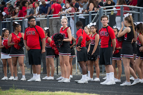 Northwood Poms, Cheer and Drumline at Battle of the Boulevard