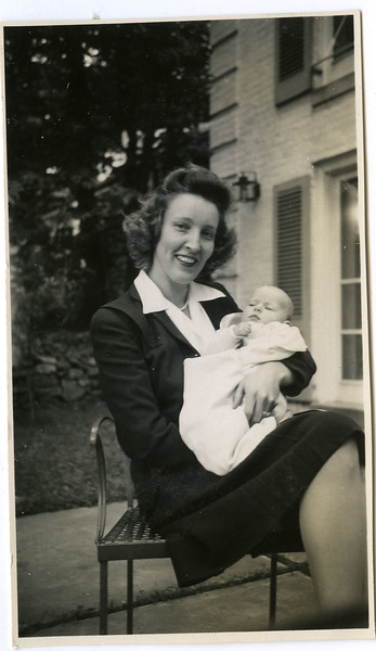 With Bonnie, while staying at Arrie and Harold's house during the war