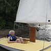 Mom at 90 in sailboat