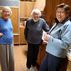 Mom with Nina and Bea, in Nina's house