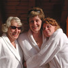 Weekend at Ovronnaz thermal baths with Bonnie, Nadia and Sarah.