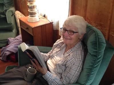 Paula enjoying a good book