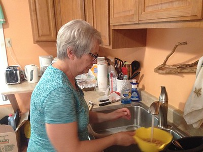 Norma gets dinner ready