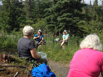 Lunch on the Johnson Pass trail