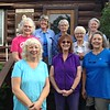 Front L to R Elaine, Esther, Sandra. Back L to R Barbara, Kari, Norma, Paula, Sally. Sylvia took the picture.  Brenda had to leave the day before.