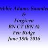 Debbie Adams Saunders 6-18-2016 Fen Ridge