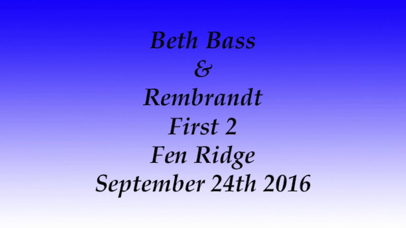 Beth Bass And Rembrandt Fen Ridge Sept 24th 2016