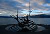 The famous Sun Voyager sculpture by Jón Gunnar Árnason