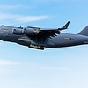 C17 Globemaster from the Royal Air Force (call sign Ascot6379) off runway 23