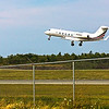 Gulfstream 4 from the US taking off runway 23