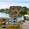 Lobster fishing dock, Corea, Maine