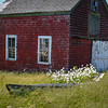 Old Barn and Dory Converted into a Planter, Cape Rosier.