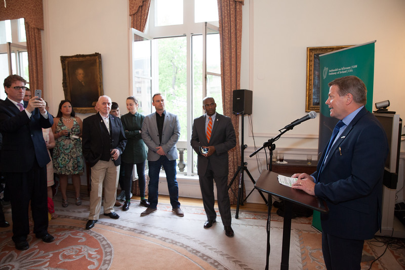 21 April 2016, Belfast Beltway Boxing Project reception at the Irish Embassy.