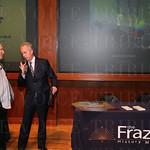 Artist Julius Friedman and Mayor Greg Fischer.