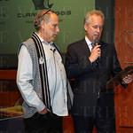 Artist Julius Friedman listened as Mayor Greg Fischer read a proclamation.